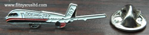 Boeing 757 Aeroplane Aircraft Pilot Lapel Hat Tie Pin Badge Aviator Plane